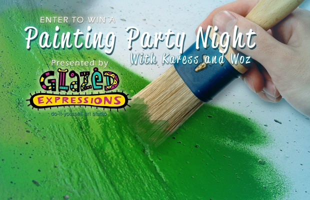 Win a Painting Party with Karess and Woz at Glazed Expressions