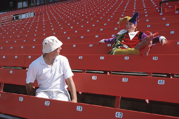 Mom and Dad in the Stands
