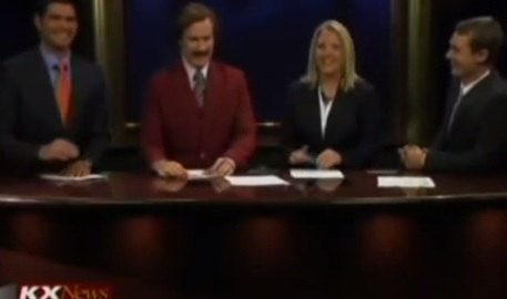Video: Ron Burgundy Does the News!